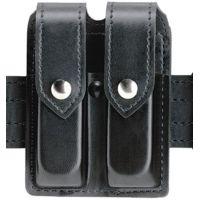 Safariland 77 Double Handgun Magazine Pouch - Plain Black, Ambidextrous 77-83-2PBL
