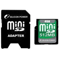 Silicon Power miniSD 45X Memory Card - 2GB