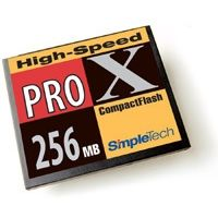 SimpleTech ProX Compact Flash 256MB Card Shipping