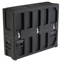 SKB Cases Roto Molded LCD screen case with universal foam insert, tow handle and wheels, fits 32 to 37 screens