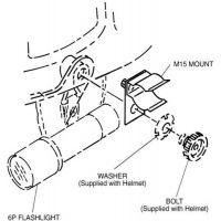 Surefire Fire Fighter Helmet Mount For 6P Flashligths M15