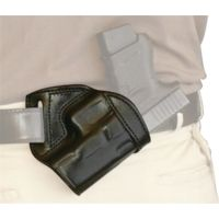Tagua Gunleather Mini Thumb Break Leather Belt Holster For Smith & Wesson J Frame 2.1 Inch Right Hand Black BH1M-710