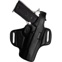 Tagua Gunleather Mini Thumb Break Leather Belt Holster For Smith & Wesson Sigma Right Hand Black BH1M-1020