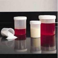 Taral Plastic Round Bottles, Polypropylene, Wide Mouth 16196-025