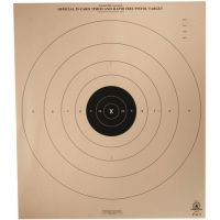 Target Barn 25 Yard Timed And Rapid Fire Pistol Light Paper Targets 100 Per Pack B-8P