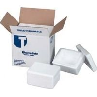 Tegrant Thermosafe ThermoSafe Thick and Thin Wall Insulated Shippers, Expanded Polystyrene, ThermoSafe Brands 346UPS Thin Wall, Assembled Foam Unit In Corrugated Carton
