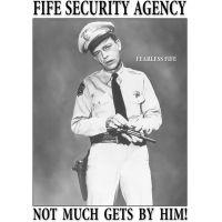 Tin Signs Fife Security Agency Tin Sign