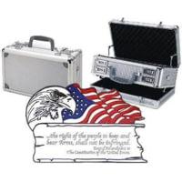 TZ Case 2 Amendment Duelly Fifthteen Gun Case 15x9x7in, Silver TZ0015SS2