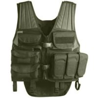 Uncle Mike's Law Enforcement Tactical Multi-Purpose Entry Vest, Black, OD Green