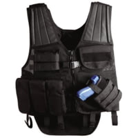 Uncle Mike's Law Enforcement Cross Draw Tactical Entry Vest - Black or OD Green, 7702210, 7702211