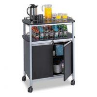 United Stationers Cart Beverage Mobile Bk SAF8964BL