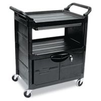 United Stationers Cart Utility Lck Door Bk RCP345700BLA