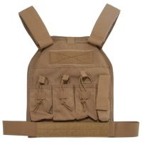 US Palm AR-15 Defender Soft Armor Plate Carrier With Two Level IIIA Soft Armor Panels Large/Standard 10x12.5 Inch Panel Coyote Tan USP00400327