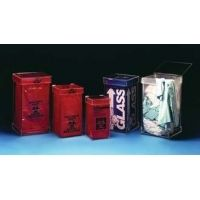 VWR Acrylic Waste Containers WB-500 Floor Models Tall Waste Box Holder