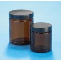 VWR Amber Glass Jars, Wide Mouth VW5420253C26 Bulk Packs With Unattached Caps In Bags