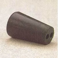 VWR Black Rubber Stoppers, Two-Hole 00-M292