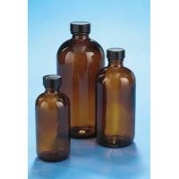 VWR Boston Round Bottles, Amber, Narrow Mouth VW5120220C25 Bulk Packs With Unattached Caps In Bags