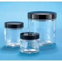 VWR Clear Glass Jars, Wide Mouth VW5413289V26 Convenience Packs With Caps Attached