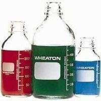 Wheaton Media Bottles, Graduated, Wheaton 219720 With Polyethylene-Lined Cap