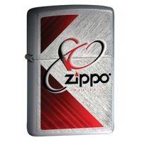 Zippo 80th Anniversary Classic Herringbone Sweep Lighter, Brushed Chrome