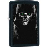 Zippo Hooded Skull Black Matte Lighter
