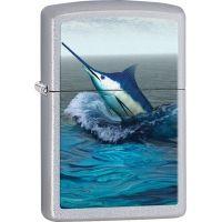 Zippo Marlin 2 Satin Chrome Lighter