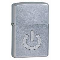 Zippo Power Button Classic Style Lighter, Street Chrome