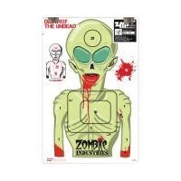 Zombie Industries Marty Martian Alien Zombie Standard Paper Indoor Targets 18x24 Inch 100 Per Package 31-010-100