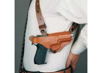 DeSantis Left Hand Tan New York Undercover Shoulder Holster w/ Double Mag Pouch