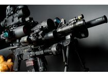 Tacti?l AR15 Gun with Rifle Scope, Laser, Red Dot and Flashlights