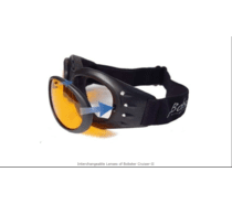 5880c262c040c ... Bobster Cruiser II Black Frame RX Prescription Lenses Interchangeable  Goggles