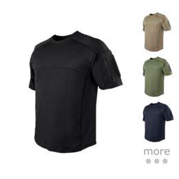 Condor Trident Battle Top Military Tactical Tee Mens Casual Summer T-shirt Tan