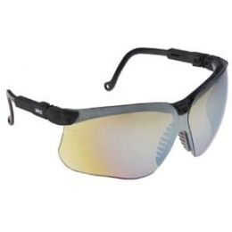 Uvex Genesis Safety Glasses with Black Frame and Vermillion XTR Anti-Fog Lens
