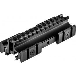 "Tactical 1/"" See-Through Picatinny Riser Flat Top Rail Rifle Scope Mount Base BK"