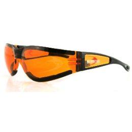Bobster Shield II Sunglasses Black w//Clear Lens