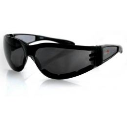 Bobster Shield II Sunglasses Black//Blue//Red frame with Smoke//Clear lens