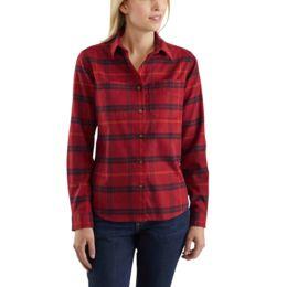 Carhartt Women/'s Flannel Shirt Button Burlwood Hamilton Flex Plaid 102779