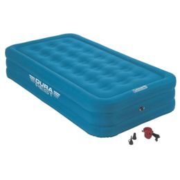 TWIN SIZE AIR MATTRESS WITH 120V PUMP AIRBED COLEMAN DOUBLE HIGH CAMPING HOME