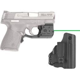 Crimson Trace Green LaserGuard Pro for S&W M&P Shield 9mm,  40 S&W w/ 150L  Light, BT Holster LL-801G-HBT — Color: Black, Beam Color: Green, Laser