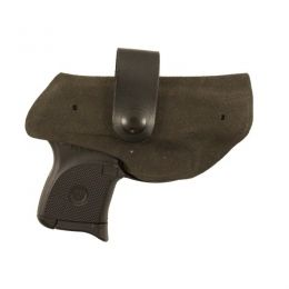 DeSantis Holster Under Fire, Right for Ruger LCP, Black 123KAR7Z0 — Color:  Black, Finish: Plain, Fabric/Material: Leather, Holster Type: Concealment