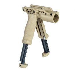 T-POD G2 SL Fab-Defense Green Bipod-Foregrip With Built In Tactical Light