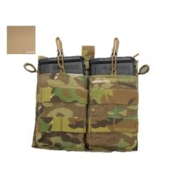 Right Side Multicam Holds 2 High Ground Gear 5.56 Side Access Mag Pouch