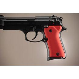 Hogue Beretta 92 Handgun Grip Compact Aluminum - Matte Red