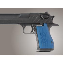 Hogue Desert Eagle Pistol Grip Tribal Aluminum - Blue