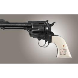 Hogue New XR3 Ruger Blackhawk/Vaquero Handgun Grip Scrimshaw Ivory Polymer