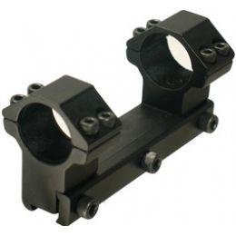 """2 Pack Leapers RGPM-25M4 Black 1/"""" Medium Profile Airgun Scope Rings w//Stop Pin"""