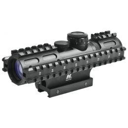 NcStar SRT 3-9X40 GEN3 Armored P4 Sniper Green Laser QR Weaver Mount Rifle Scope