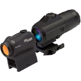 SIG SAUER Romeo 5 Red Dot Sight 2 MOA W// Juliet 4 3x Magnifier SORJ53101 BUNDLE