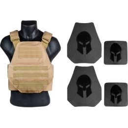 Spartan Armor Systems AR500 Omega Body Armor And Plate Carrier Package