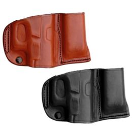 Most TAGUA Dark Brown Leather Magazine /& Flashlight Carrier 9mm DOUBLE STACK
